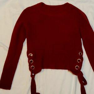 Marroon long sleeve sweater